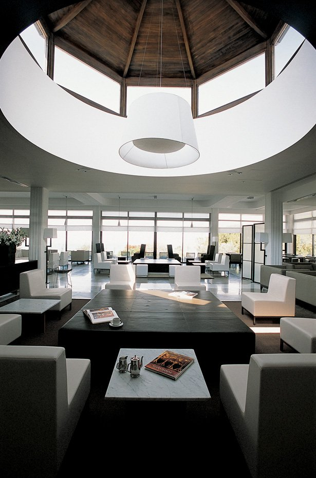 Effective desk design with hidden storage slope desk