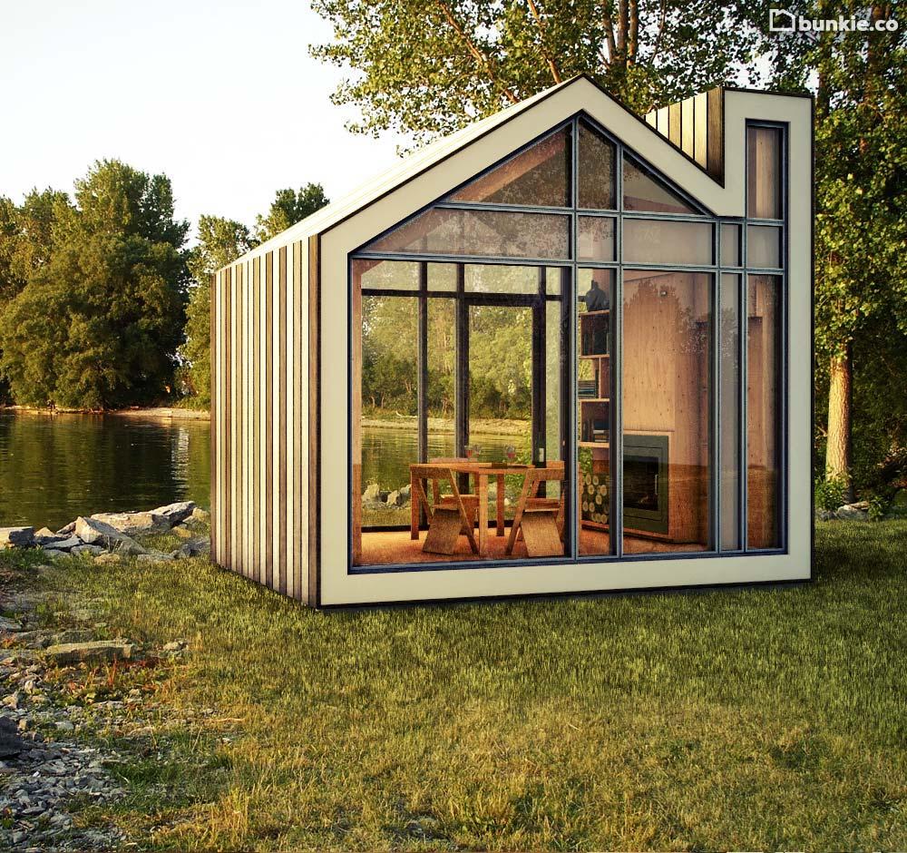The bunkie by 608 design and bldg workshop for Garden getaway designs