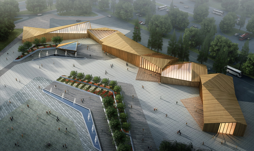 8th china flower expo information center by lab for Lab architects