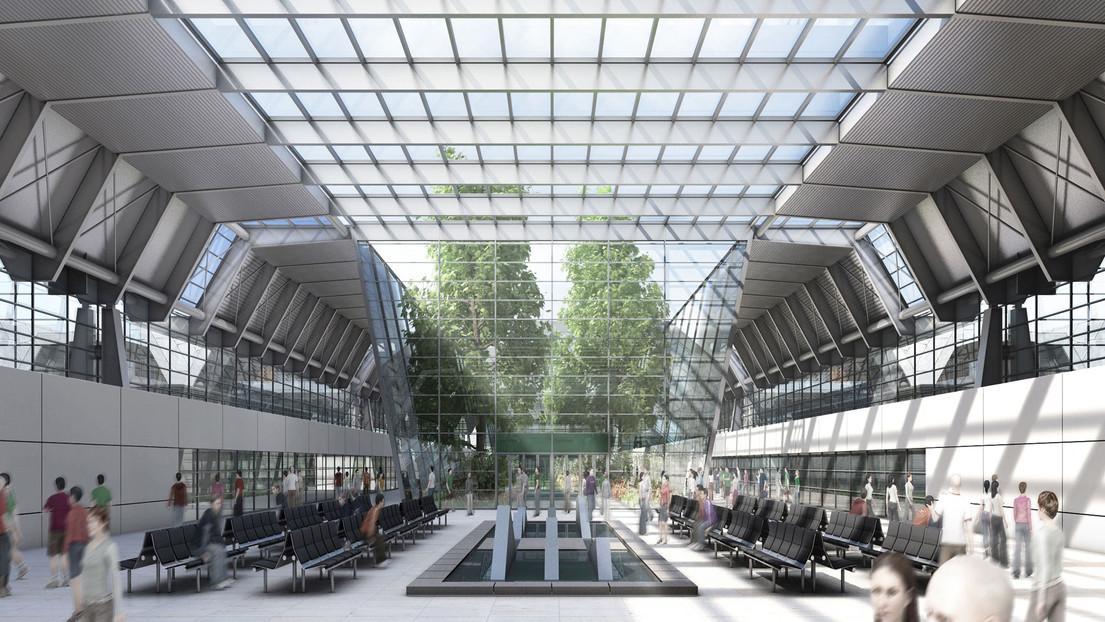 National convention and exhibition center by gmp architekten for International interior design exhibition