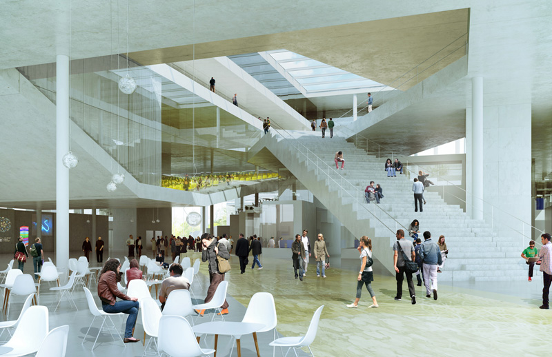 New 201 Cole Centrale Engineering School By Oma