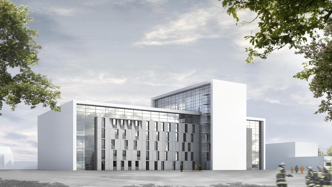 State fire brigade school winning proposal by gmp architekten - Gmp architektur ...