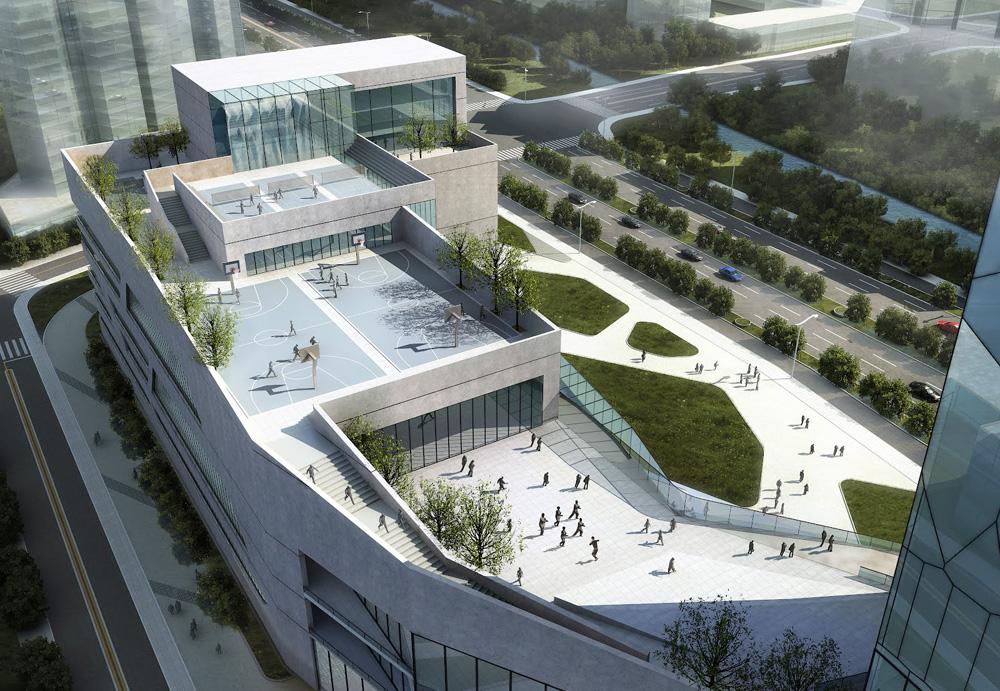 Hangzhou Civic Sports Center By Bluarchitecture