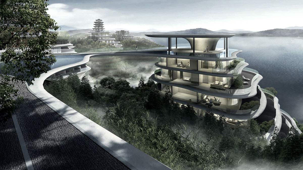 Huangshan mountain village by mad architects for Mountain architects
