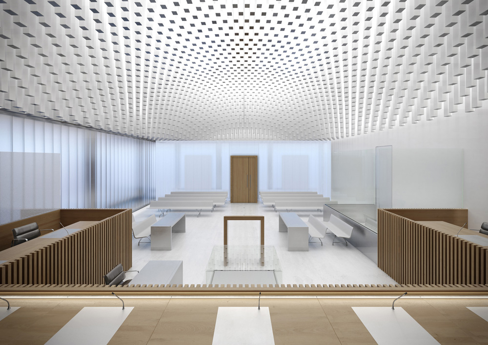New law courts of caen by baumschlager eberle for Cout plan architecte