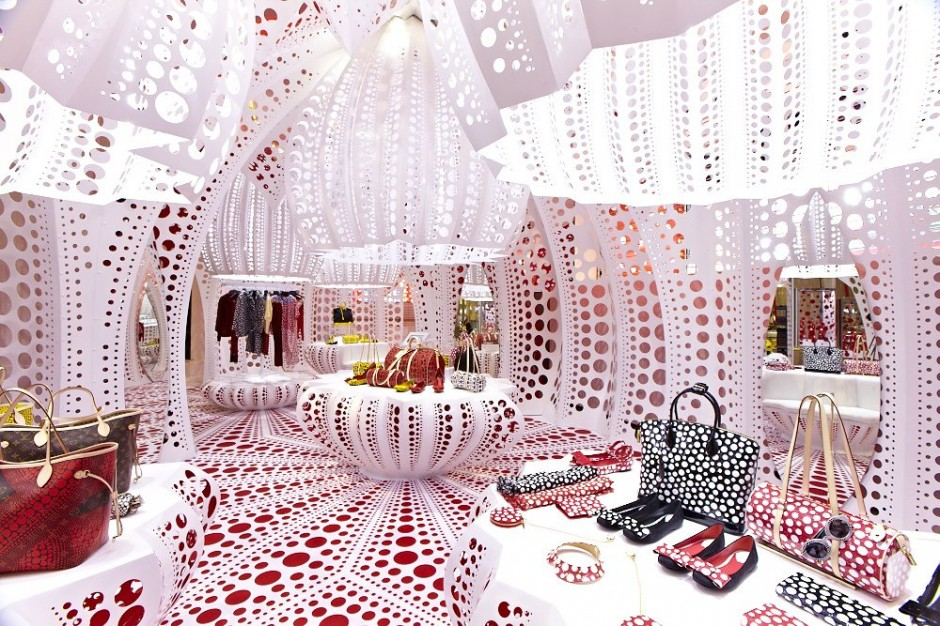 louis vuitton store by yayoi kusama. Black Bedroom Furniture Sets. Home Design Ideas