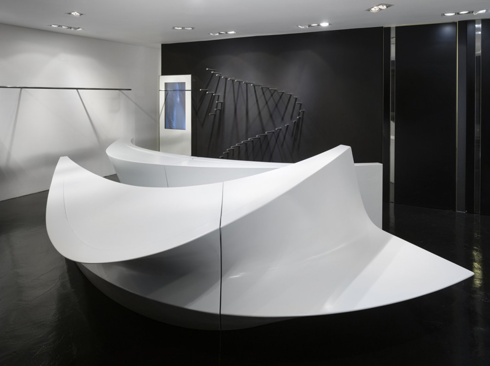 neil barrett shop in shops by zaha hadid architects. Black Bedroom Furniture Sets. Home Design Ideas