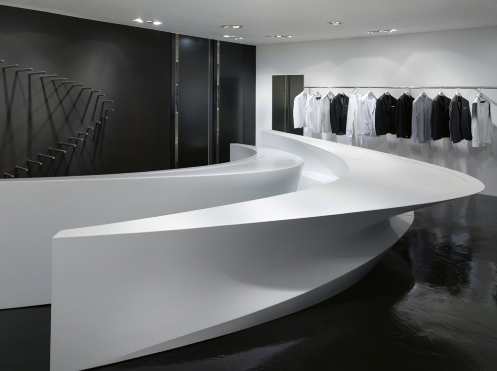 Neil barrett shop in shops by zaha hadid architects for Interior design zaha hadid