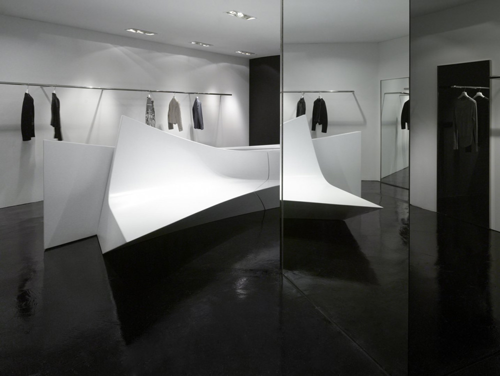 Neil Barrett Shop In Shops By Zaha Hadid Architects