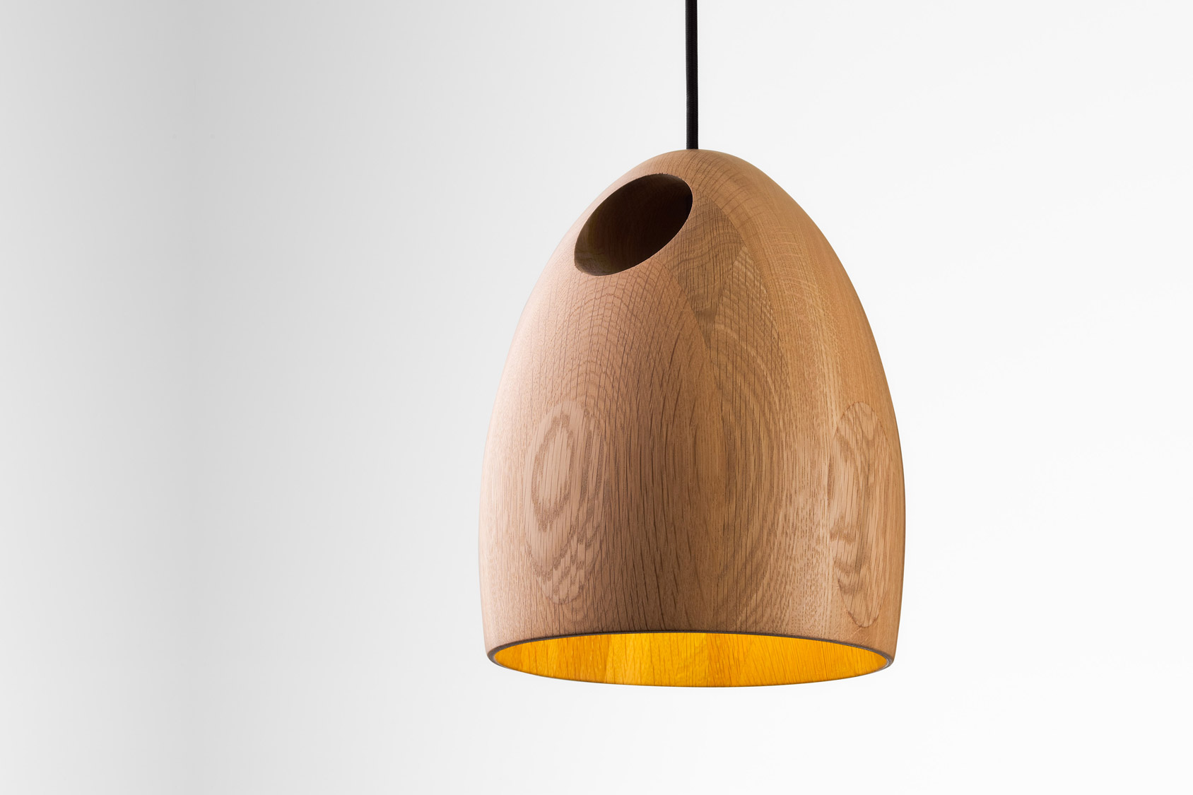 oak lamps by ross gardam