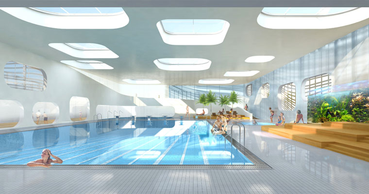 Public swimming pool by mikou design studio for Pool design rules