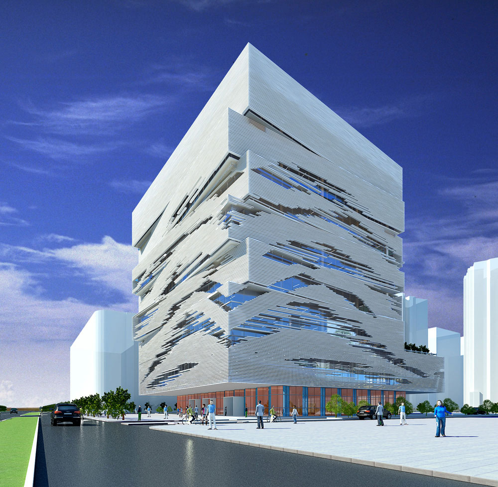Taizhou city cultural and creative industry building by for Building design images
