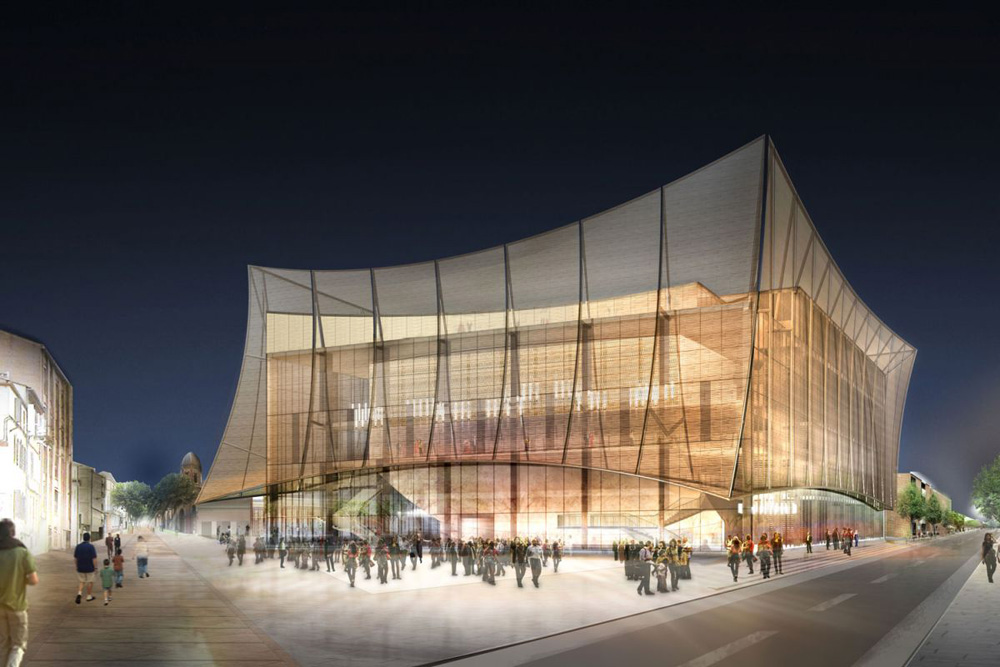 Grand theatre d 39 albi by dominique perrault architecture for Architecte albi