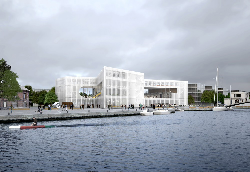 LIBRARY IN CAEN BY OMA