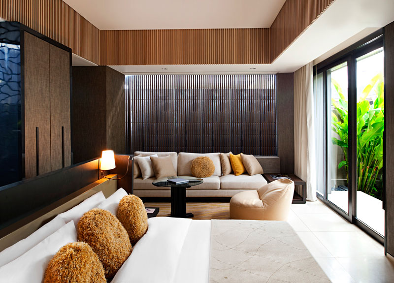 W retreat spa in bali for W hotel bedroom designs