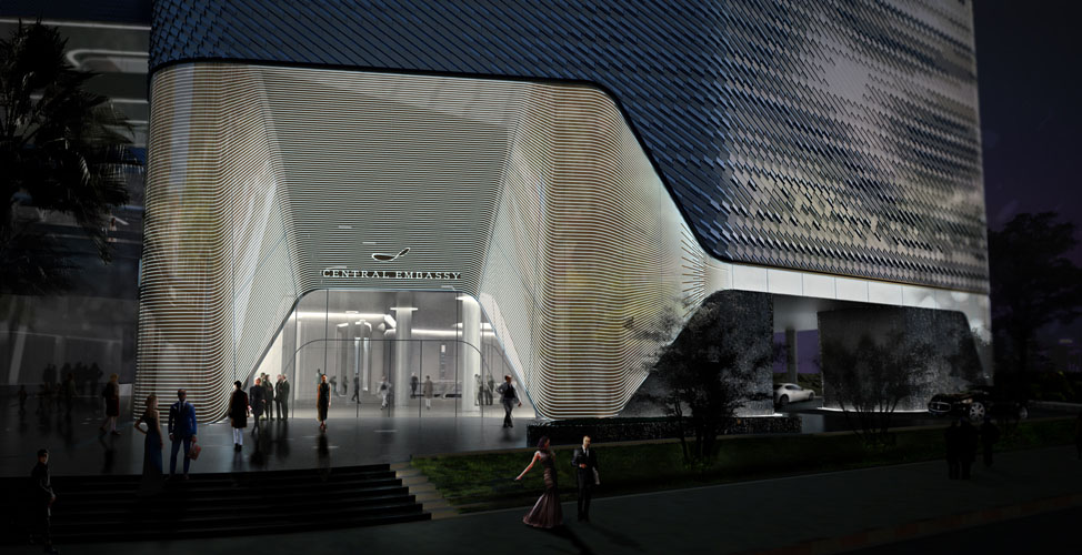 Central embassy by amanda levete architects for Bangkok architecture
