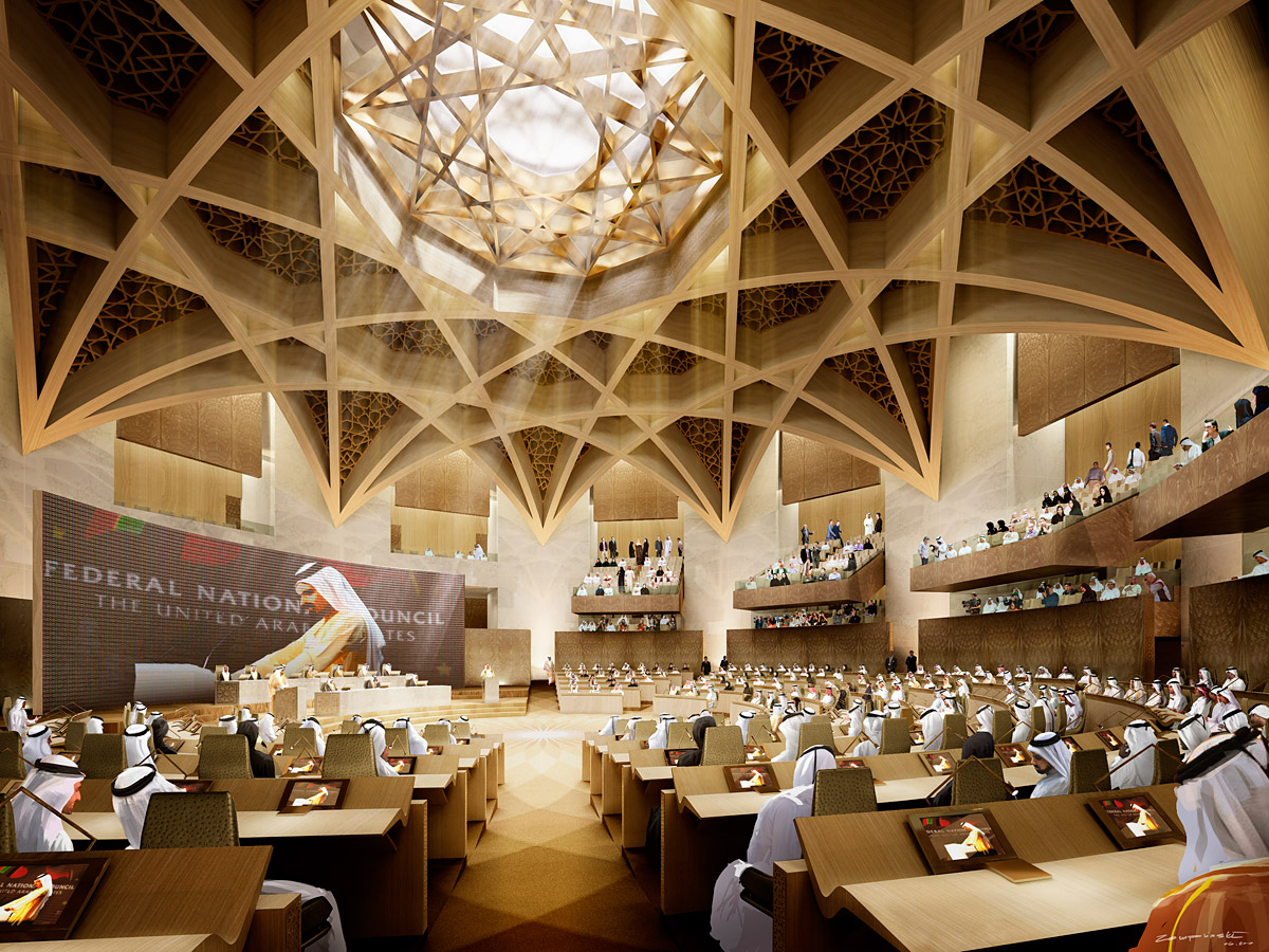 New United Arab Emirates Parliament Building Complex By