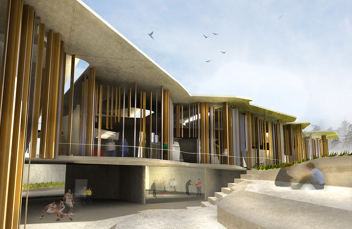 Winning proposal for the new New Soheil Abedian School of Architecture ...