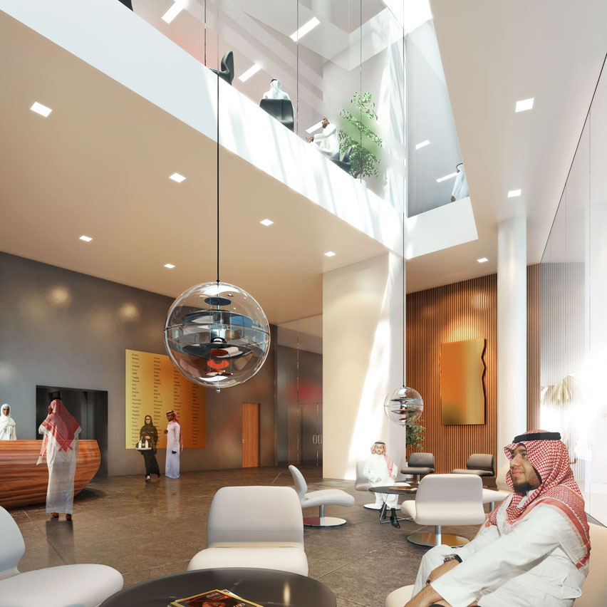 Villas in the sky by henning larsen architects for Interior design companies in riyadh