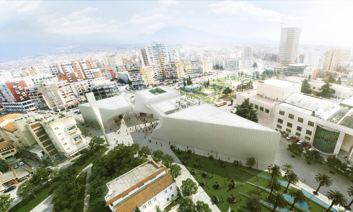 Tirana mosque and museum of religious harmony by big for Big bjarke ingels group