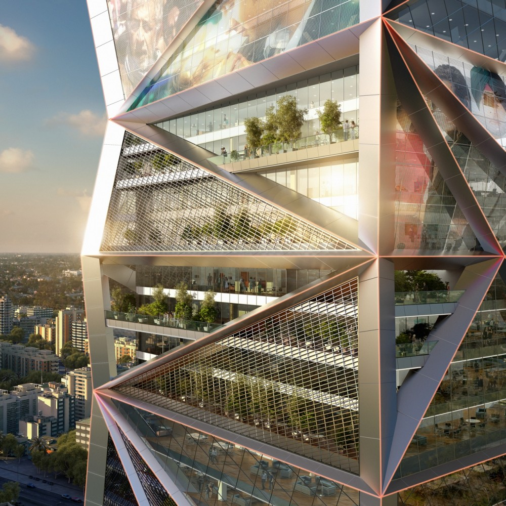 Parinee by james law cybertecture international for Ultra modern office building design