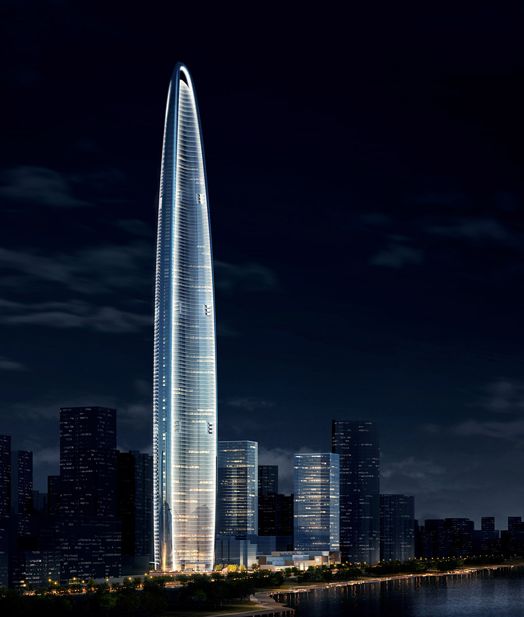 Wuhan greenland center by adrian smith gordon gill for For architecture