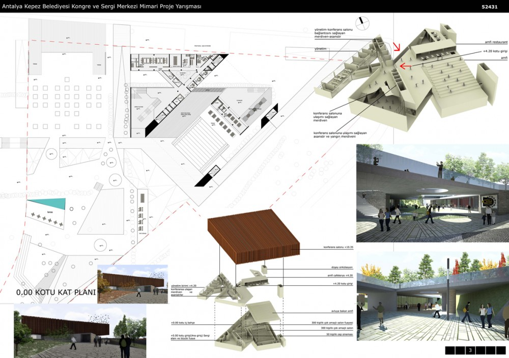 Architecture Design Sheets antalya kepez municipality congress hallhakan deniz ozdemir