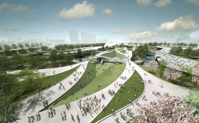Olimpic Central Park Bridges Heneghan Peng Architects