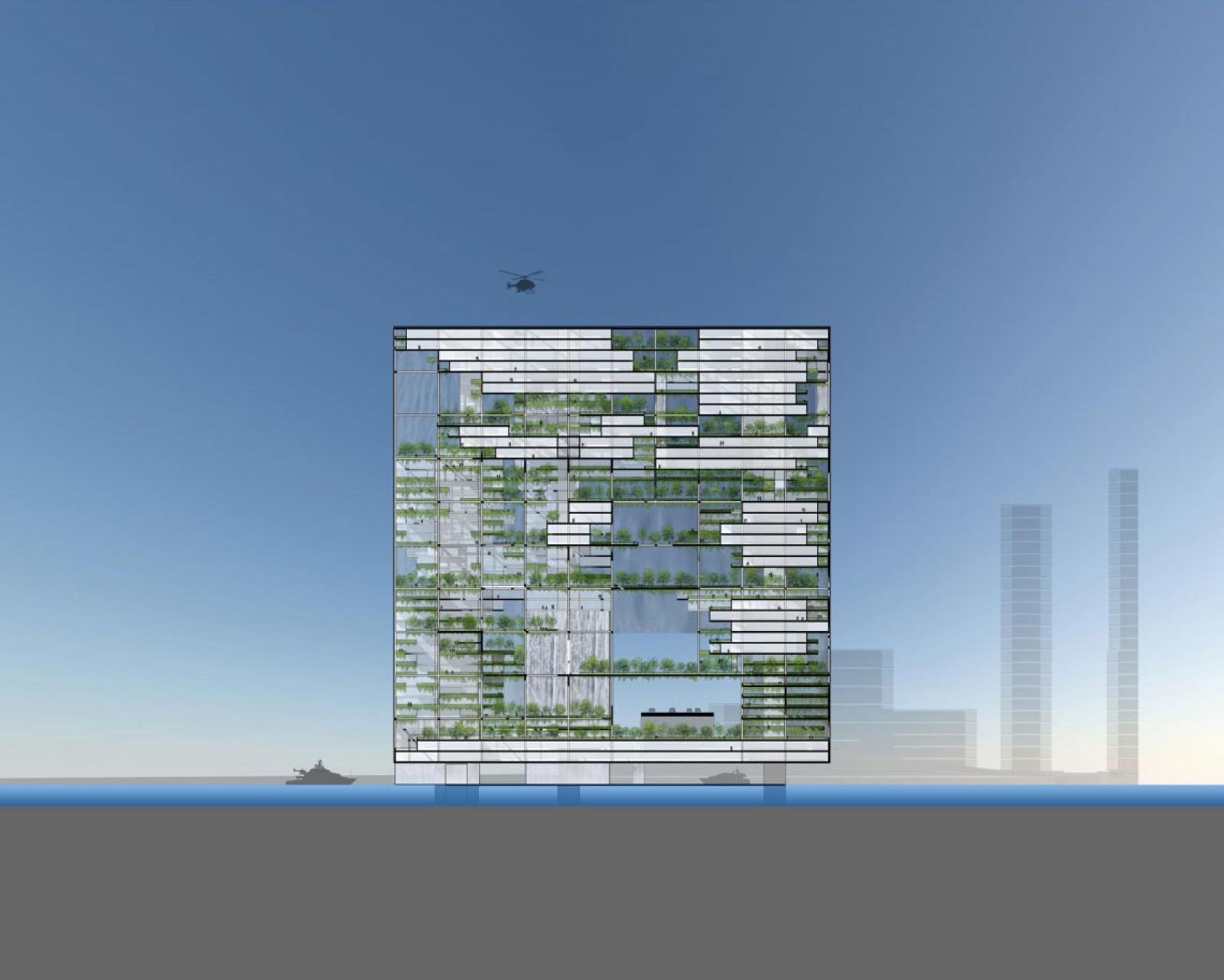 Matrix gateway complex by adrian smith gordon gill for Home gateway architecture