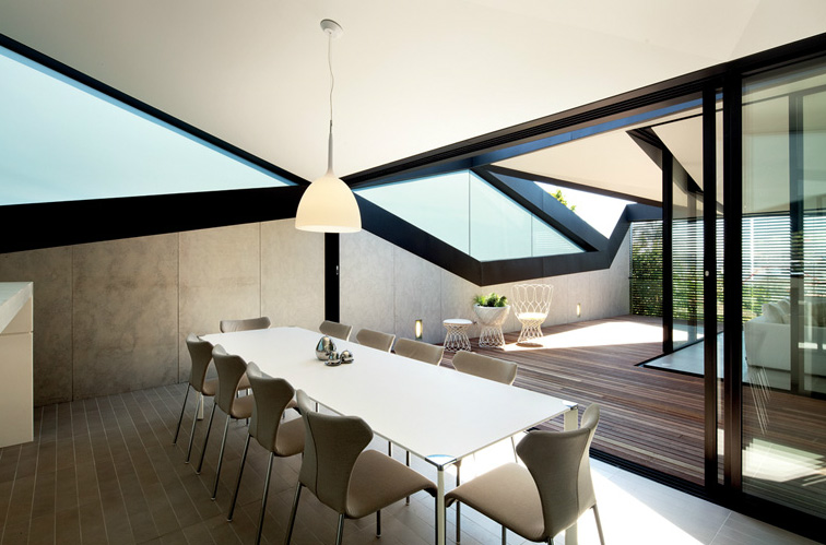 Pitched Roof House By Chenchow Little Architects