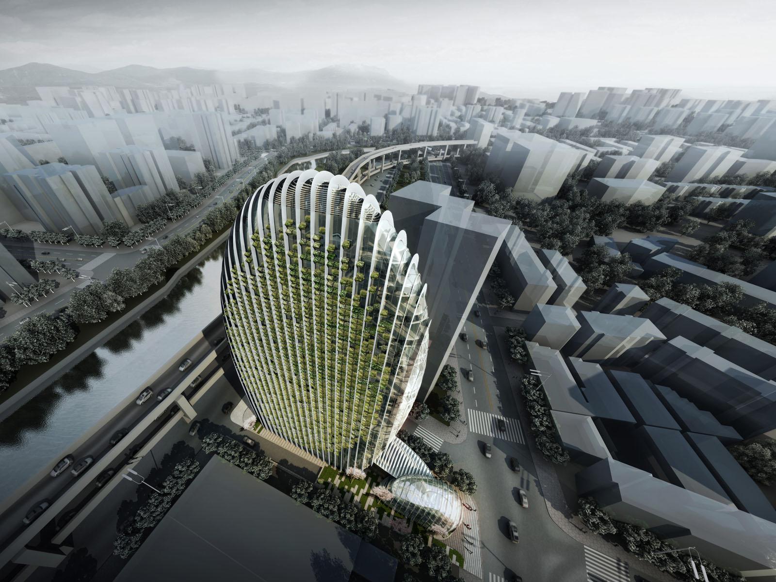 Taipei Nangang Office Tower By Aedas