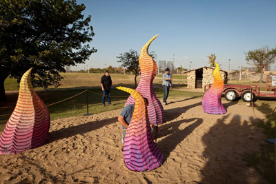 Wildfire Sculptures By Herb Williams