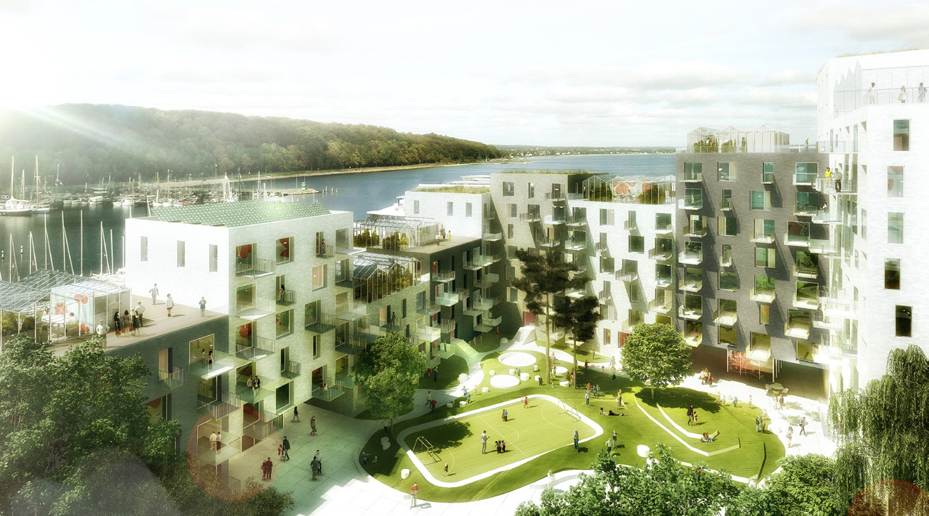 Residential project at aarhus harbour by adept and luplau for Residential house builders