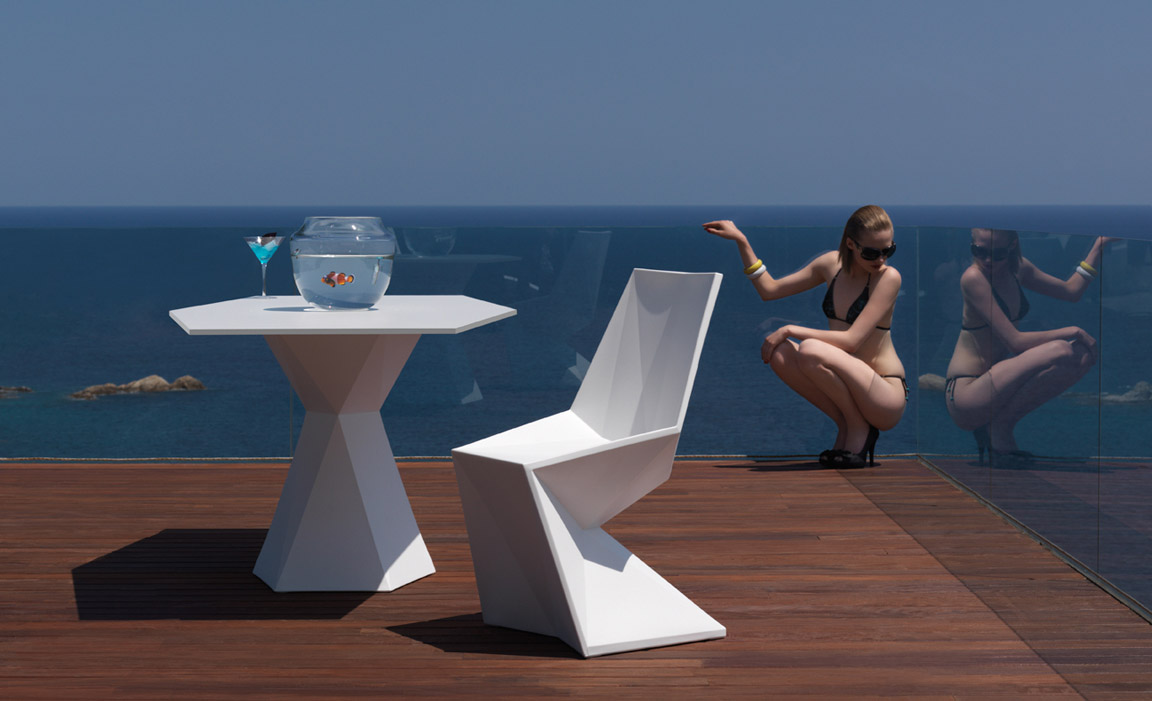 vertex furniture by vondom. Black Bedroom Furniture Sets. Home Design Ideas