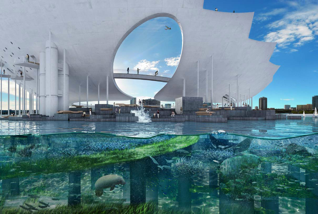 Winning proposal st petersburg pier by michael maltzan Architect florida
