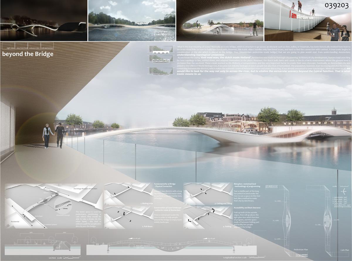Honorable mentions for iconic pedestrian bridge for Design bridge amsterdam