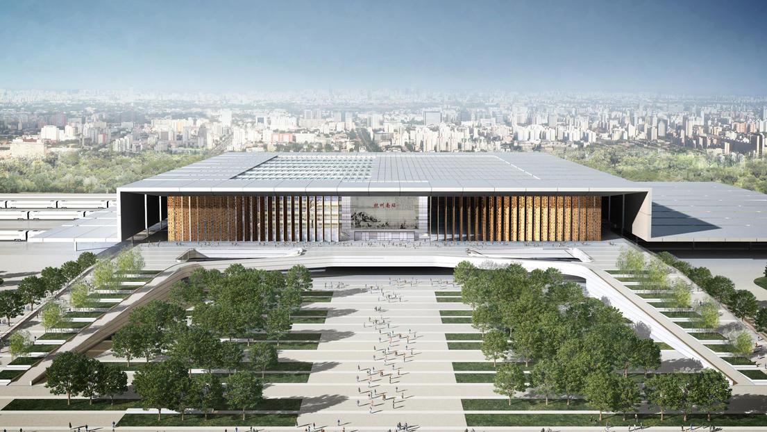 Hangzhou south railway station by gmp architekten - Gmp architektur ...