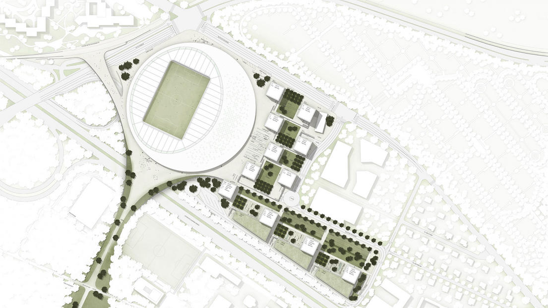 Sports Complex Urban Re Design In Lausanne By Gmp