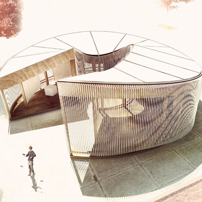 Weaving In Tension Pavilion By Meta Studio Architecture