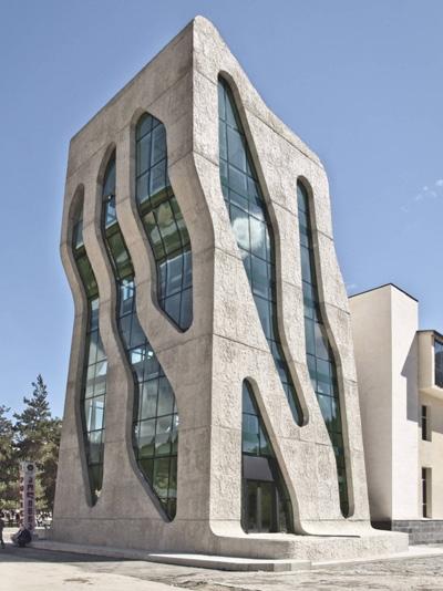 Mestia Police Station by Jürgen Mayer H. Architects