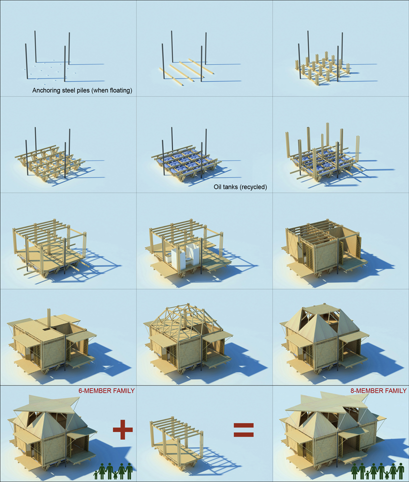Bamboo Housing In Vietnam By H P Architects