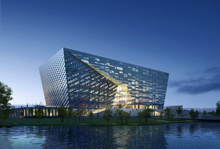 Hebei University Library By Damian Donze