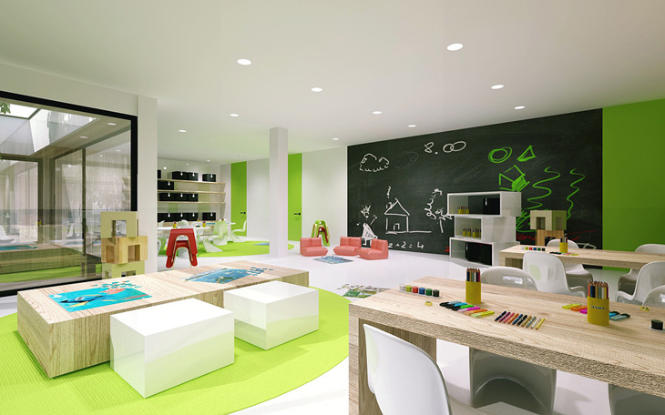 Modern Preschool Classroom Furniture ~ Modular kindergarten by minimalstudio architects