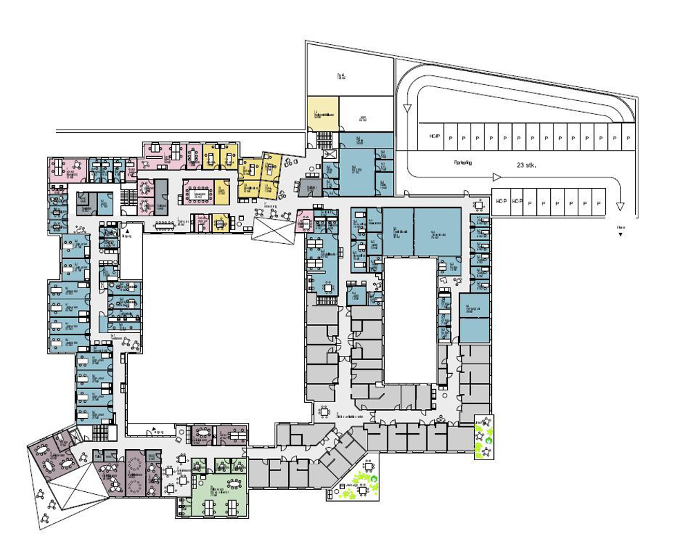 Nord architects and 3rw architects wins healthcare center for Floor plans health care facilities