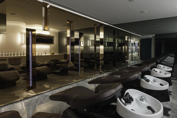 bruneblonde hair salon by one space design. Black Bedroom Furniture Sets. Home Design Ideas