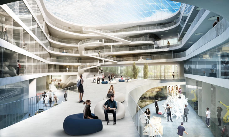 3xn architects win university building in stuttgart for Architect education