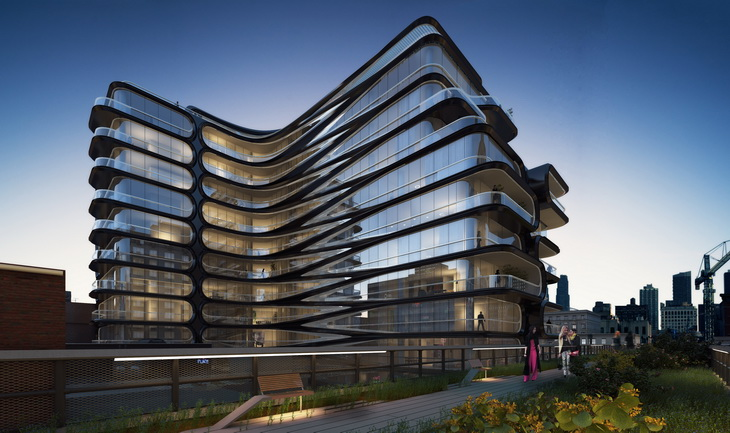 Fancy Apartment Building zaha hadid unveils her first nyc building at 520 west 28th street