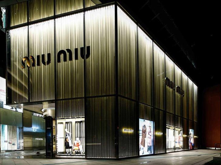 miu miu store in shanghai by roberto baciocchi