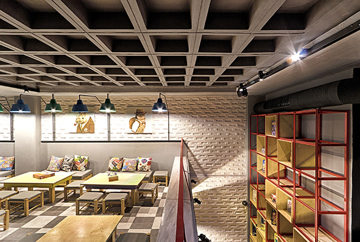 Alaloum board game café triopton architects