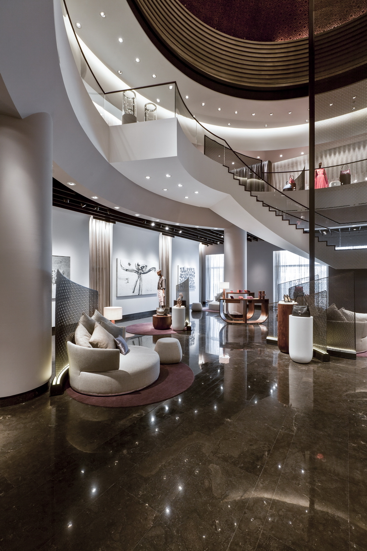 Qatar luxury group uxus reveal qela for Interior design qatar